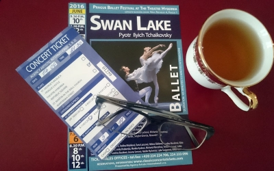 "Prague Festival at the Teantre Hybernia. Ballet. P. Tchaikovsky. ""Swan Like""."